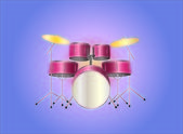 Drumset red — Stock Vector