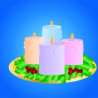 Royalty-Free Stock Vector Image: Christmas candles ( background on separate layer )