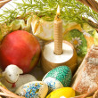 Basket with Easter eggs — Stock Photo #2761925