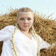 Stock Photo: Girl with plaits