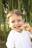 The boy with cookies — Stock Photo