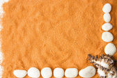 Orange sand — Stock Photo