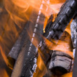 Fire wood on fire — Stock Photo