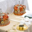 Crowns before wedding - Stock Photo