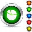 Royalty-Free Stock Vectorielle: Diagram button.