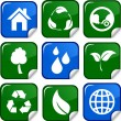 Ecology icons. — Stockvector