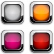 Square buttons. — Stock Vector