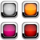 Square buttons. — Stockvector