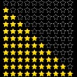 Rating stars. - Stock Vector