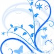 Royalty-Free Stock Vector Image: Blue floral background.