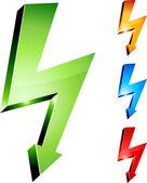 Electricity warning symbols. — Stock Vector