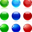 Royalty-Free Stock Vector Image: Glossy balls.