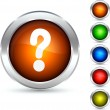 Question button. — Imagen vectorial