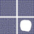 Stock Vector: Set of halftone backgrounds.