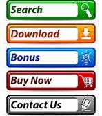 Web-buttons. — Stockvektor