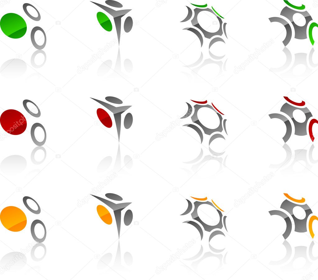 Abstract company symbols. Vector illustration. — Image vectorielle #2748840