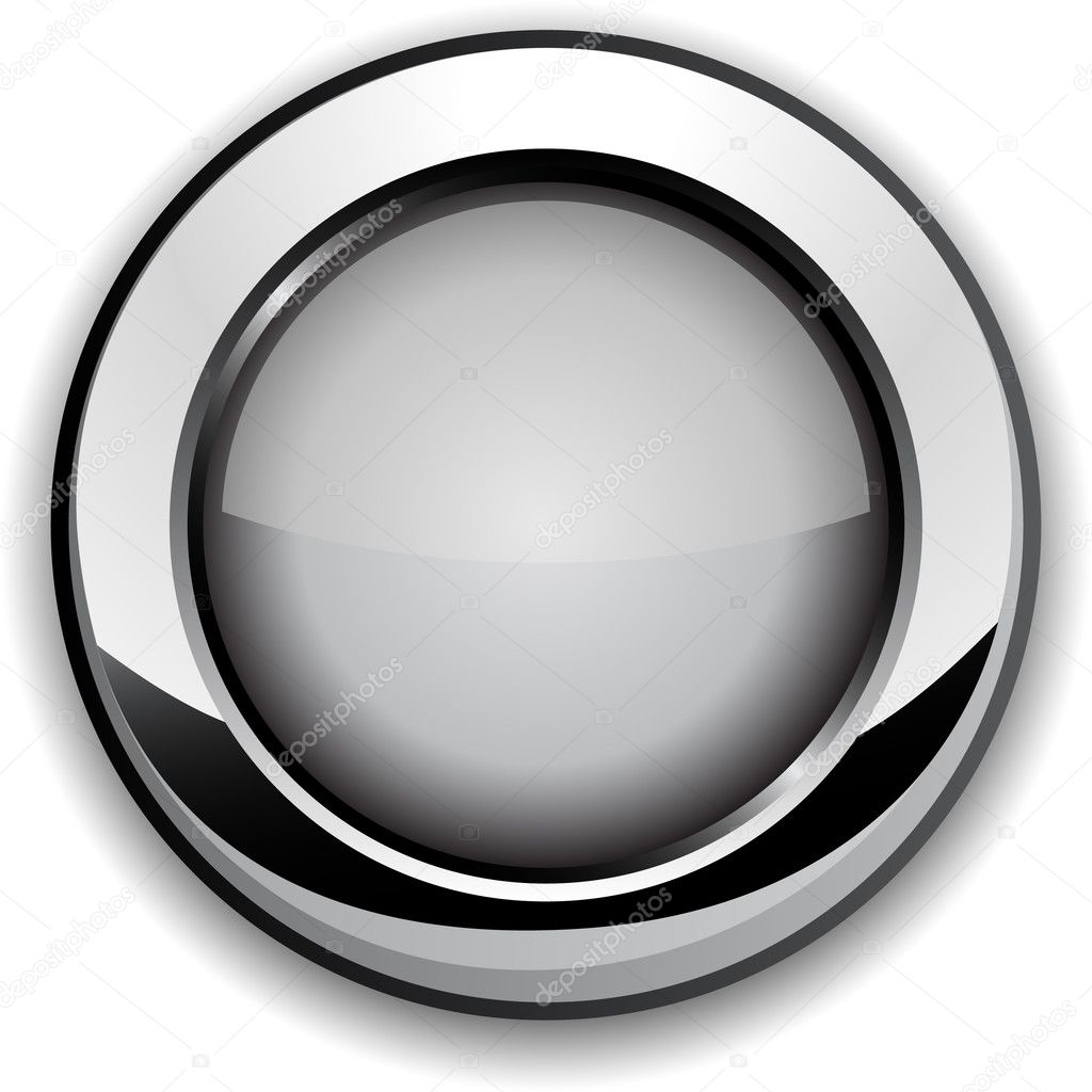 Realistic gray button. Vector illustration.  Stock Vector #2748882