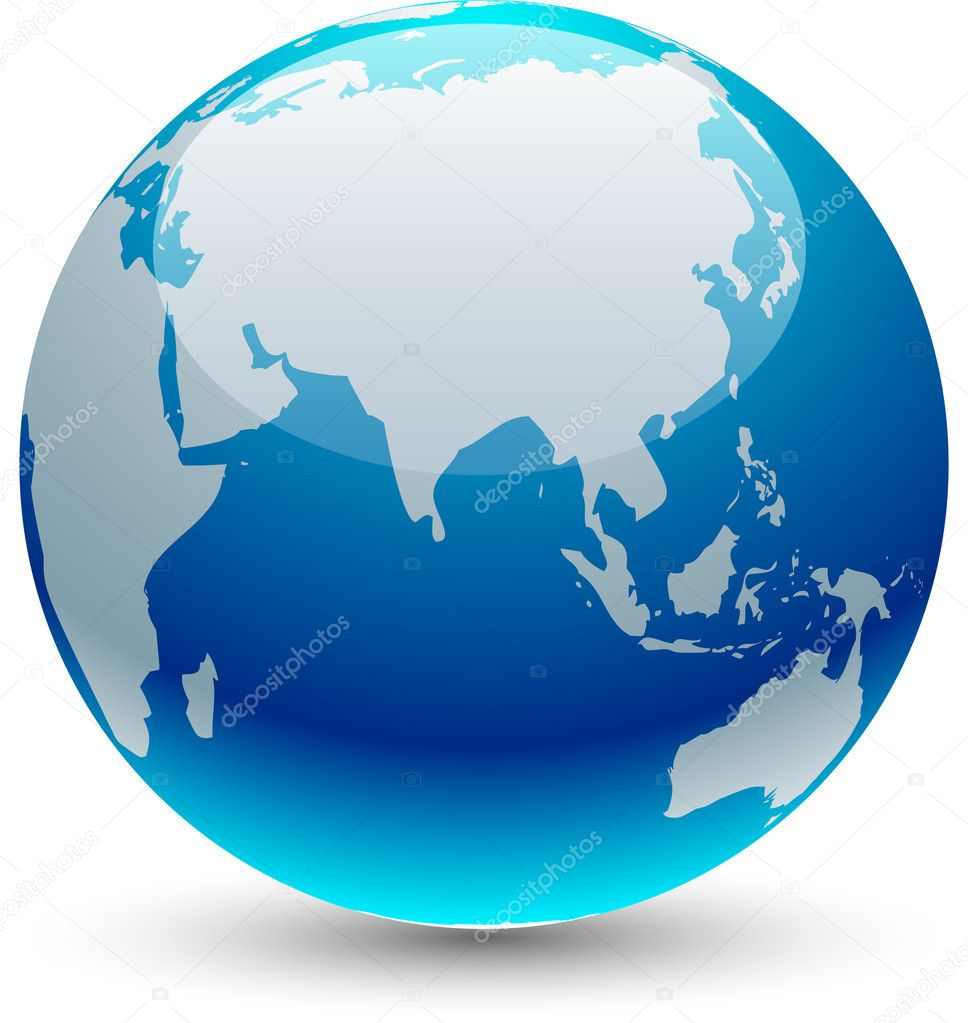 Glossy globe icon. Vector illustration.  — Stock Vector #2749650