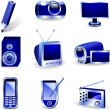 Royalty-Free Stock Vector Image: Media icons.