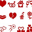 Love icon set. — Stock Vector #2752611