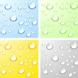 Stock Vector: Wet surfaces.