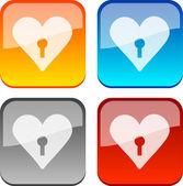 Botones de amor. — Vector de stock