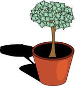 Money tree. [Vector] — Stock Vector