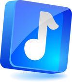 Music Icon. — Stock Vector