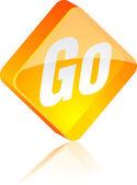 Go button. — Stock Vector