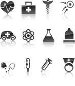 Medical ikonuppsättning. — Stockvektor
