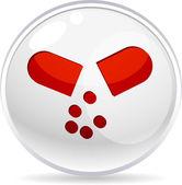 Pill shiny icon. Vector illustration. — Stockvektor