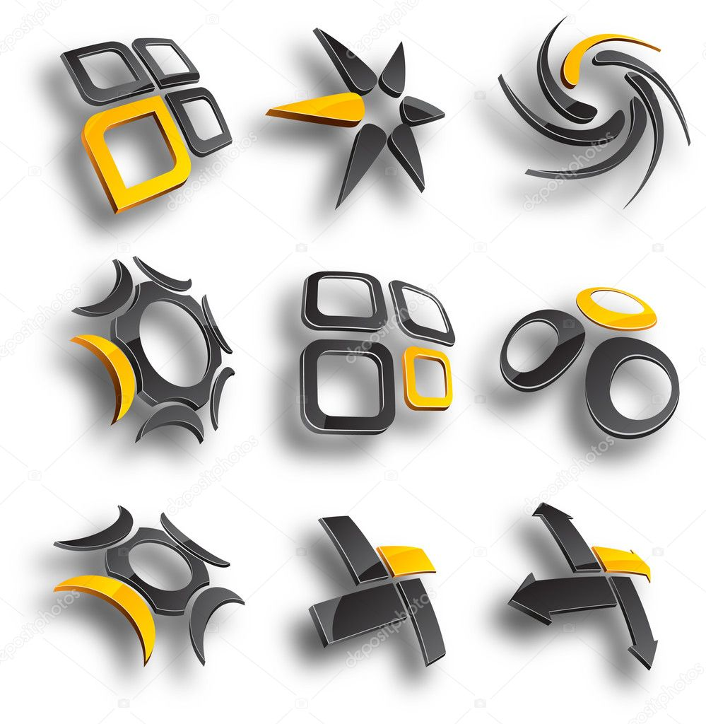 Abstract design elements. Vector illustration. — Vettoriali Stock  #2752819
