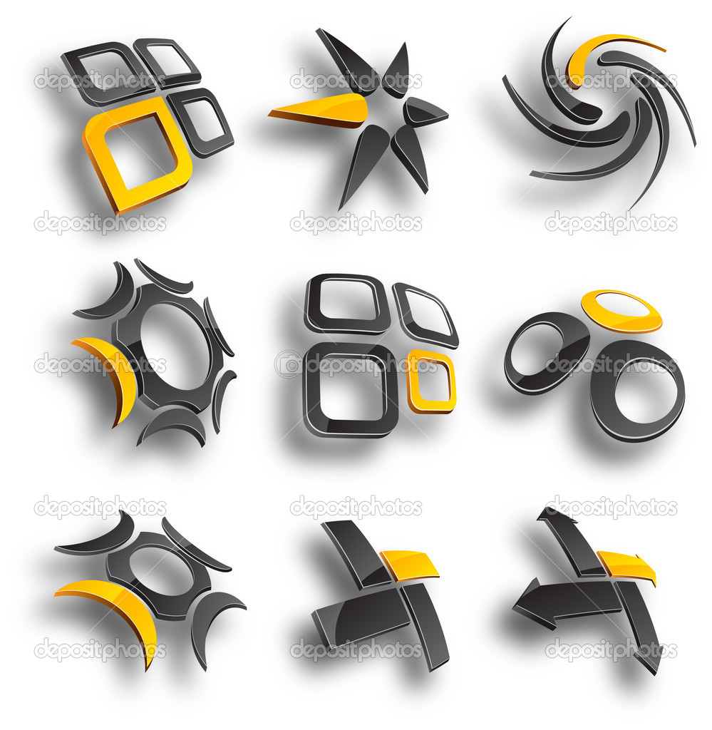 Abstract design elements. Vector illustration. — Imagen vectorial #2752819