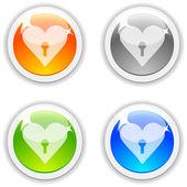 Botões de amor. — Vetorial Stock