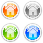 House buttons. — Stock Vector