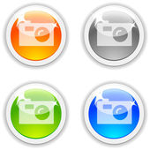 Photo buttons. — Stock Vector