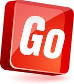 Go Icon. — Stock Vector