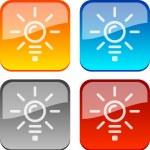 Idea buttons. — Stock Vector