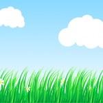 Lush grass. — Stock Vector