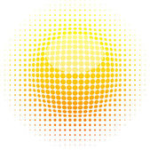 Halftone sun. — Stock Vector
