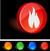Icona di fiamma. — Vettoriale Stock