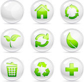 Ecology Icons. — Stock Vector