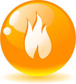 Flame icon. — Stock Vector