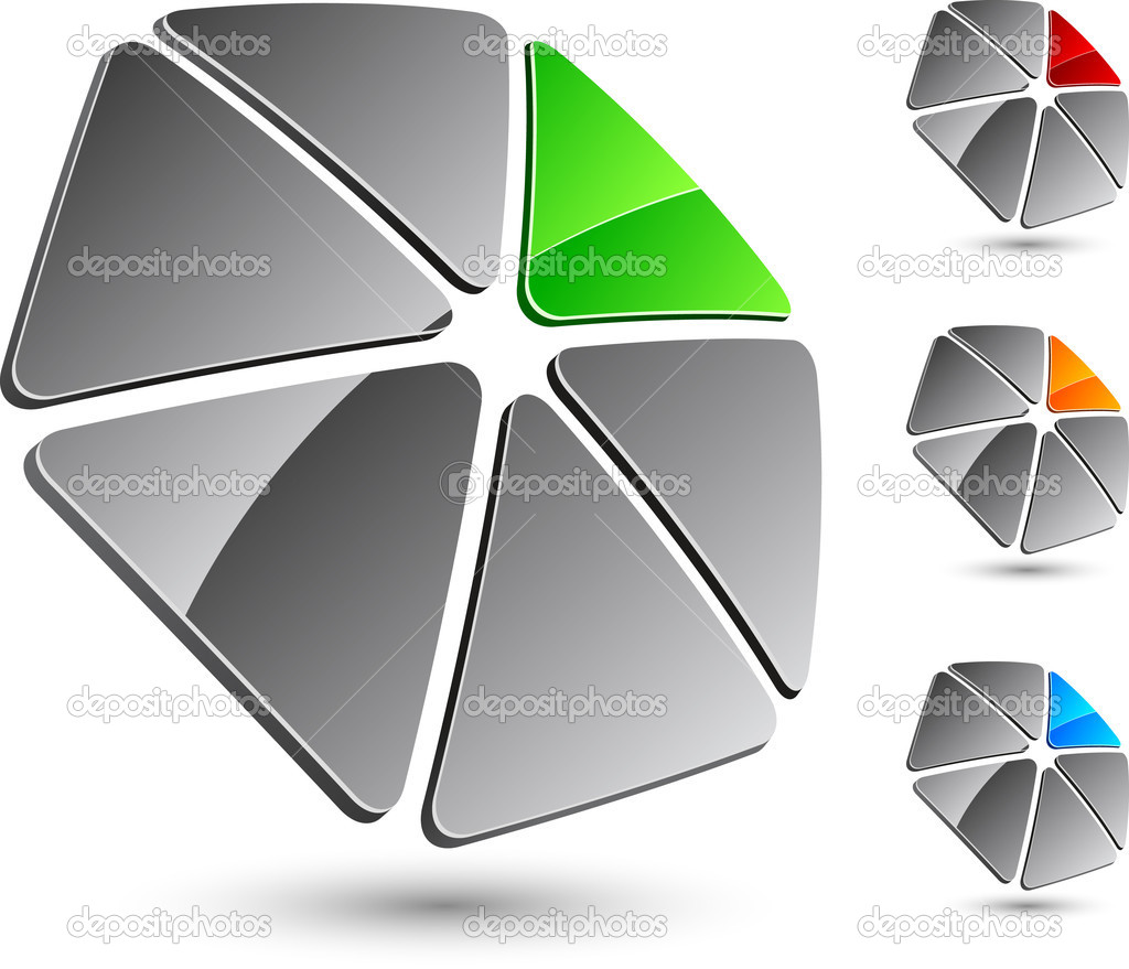 Abstract company symbol. Vector illustration. — Stock Vector #2819672