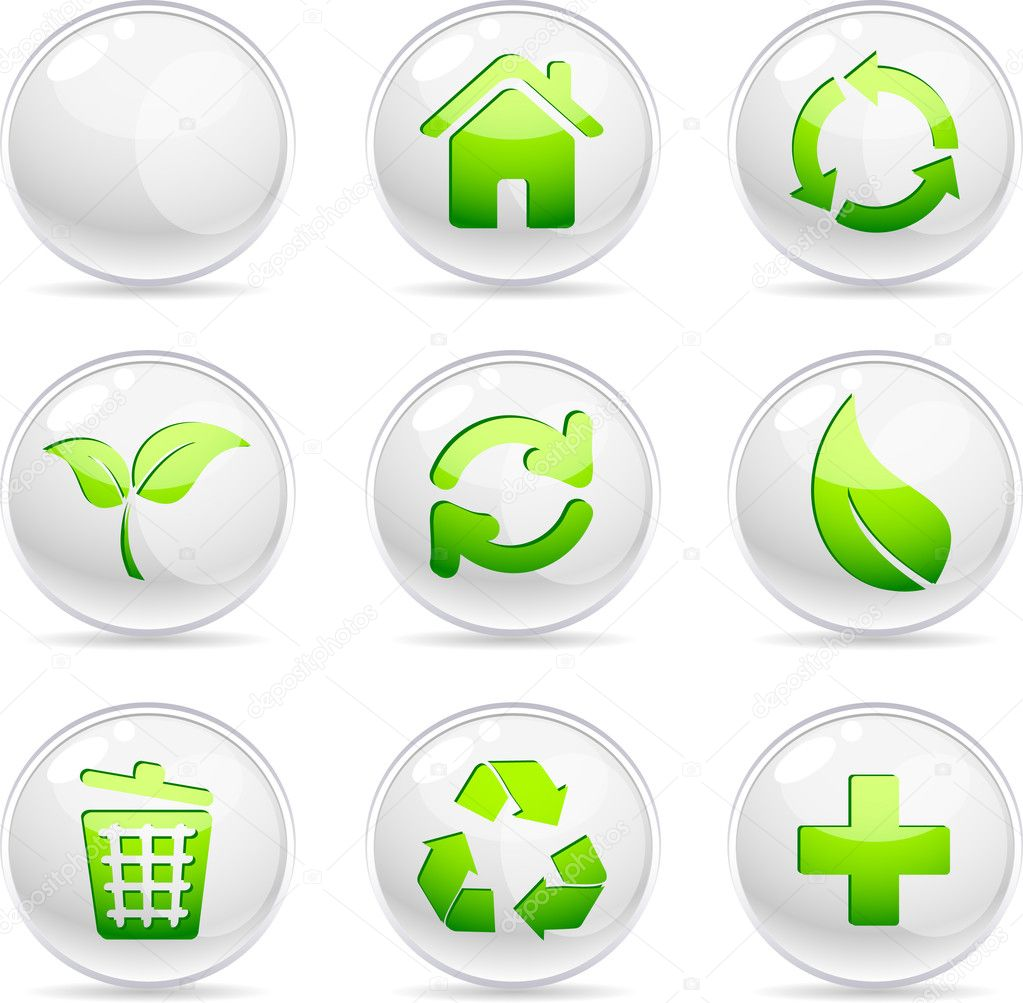 Ecology 3d icons. Vector illustration.  — Stock Vector #2819685