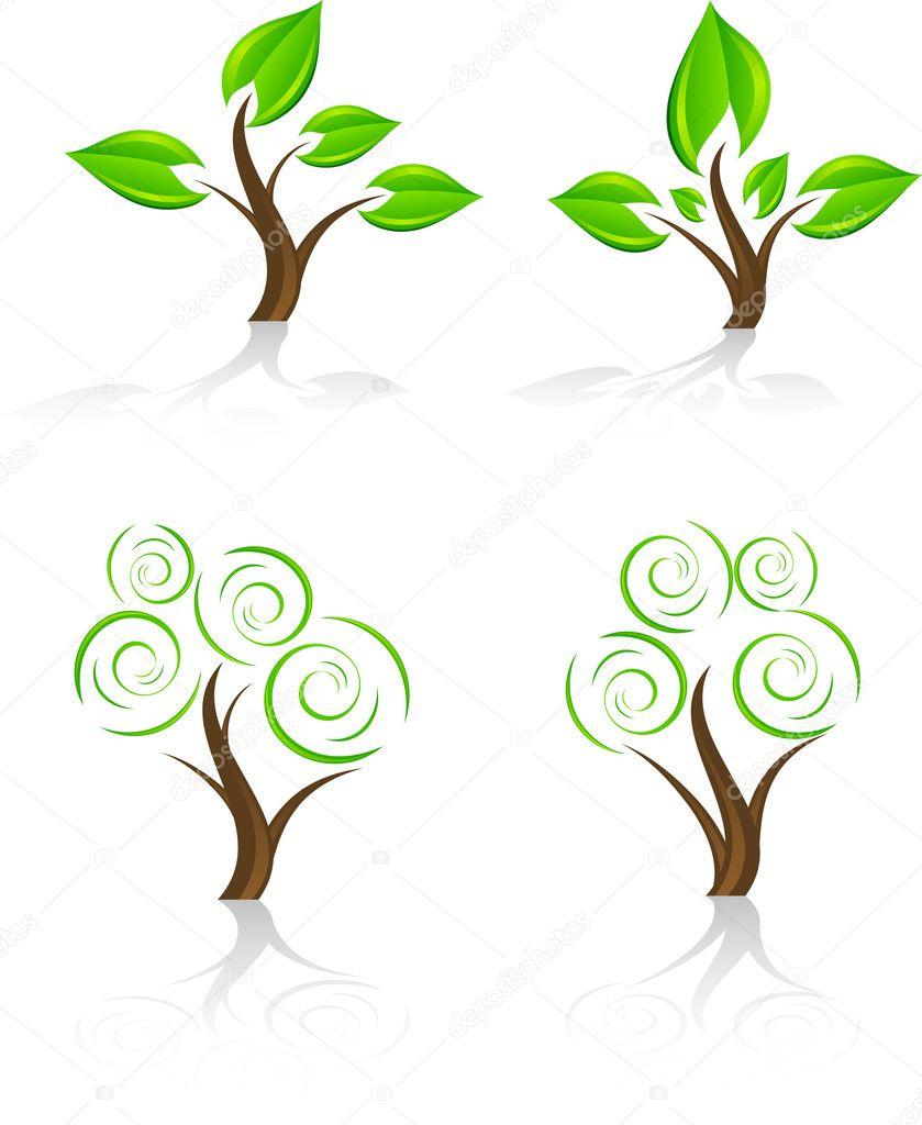 树图标集.矢量— 矢量图片作者
