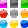 Web buttons. - Imagen vectorial