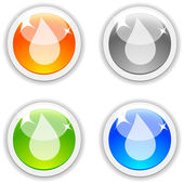 Drop buttons. — Stock Vector