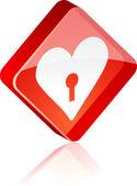 Love button. — Stock Vector