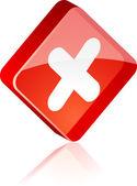 Cross button. — Stock Vector